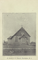 Delaware East-115-19xx-pc-St James RC Church-bw-SC 113