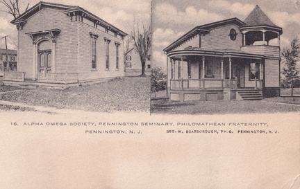 Delaware West-112-1912-pc-Penn Seminary Alpha Omega Frat-16 Scarbourough-SC 128